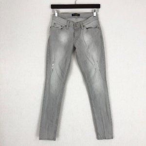 Levi's 524 Too Superlow Gray Skinny Jeans Sz 3M